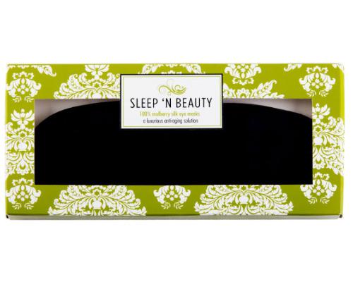 Masque en Soie noire Sleep'n beauty coffret