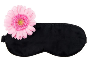 Masque en Soie noire Sleep'n beauty vue 1