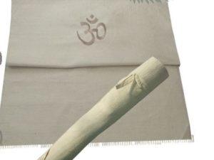 tapis de yoga bio en coton d'inde vue 3